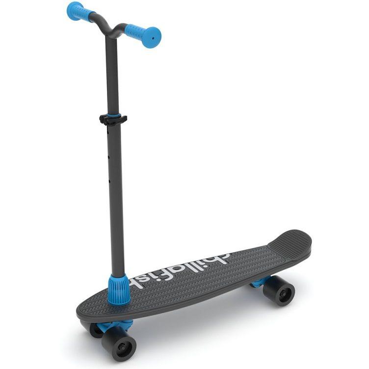Тротинетка/скейт Chillafish SkatieScootie 2 в 1, BlackMix