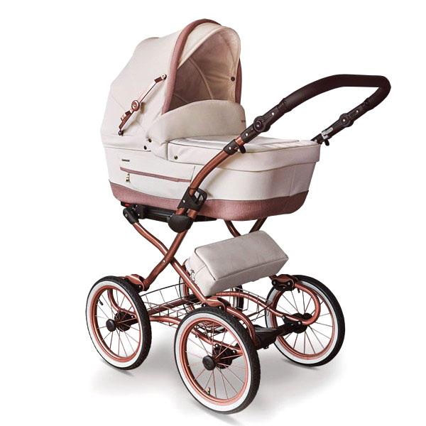Бебешка количка Tutek TURRAN SILVER Limited Edition 3в1 Rose Gold