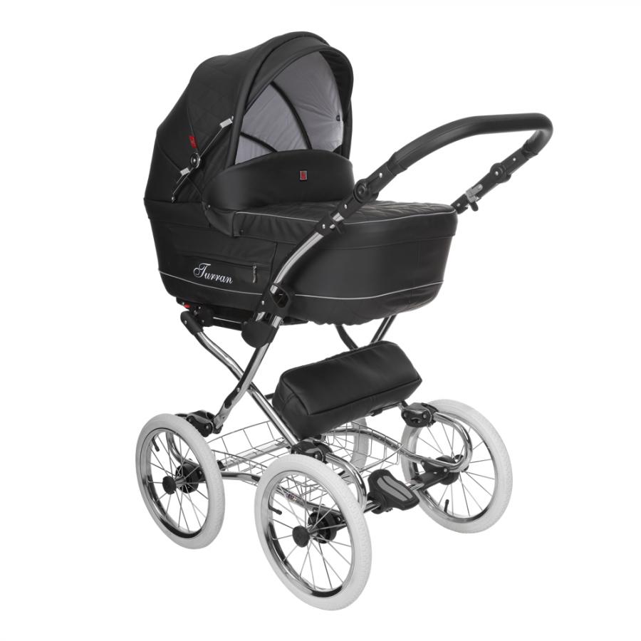 Бебешка количка Tutek TURRAN SILVER Black/B Eco 3в1