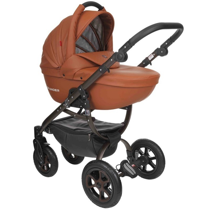Бебешка количка Tutek GRANDER Play 3в1 BROWN ECO