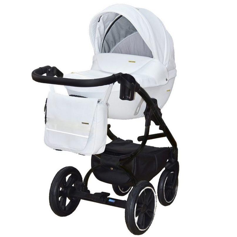 Бебешка количка Tutek GRANDER Play 3в1 WHITE BLACK ECO