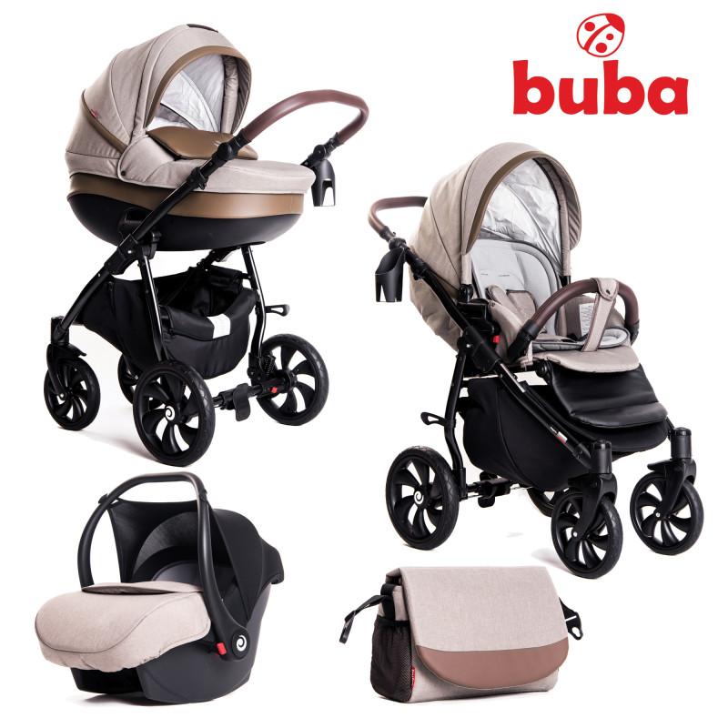 Бебешка количка Buba Estilo 920, 3 в 1, Бежова