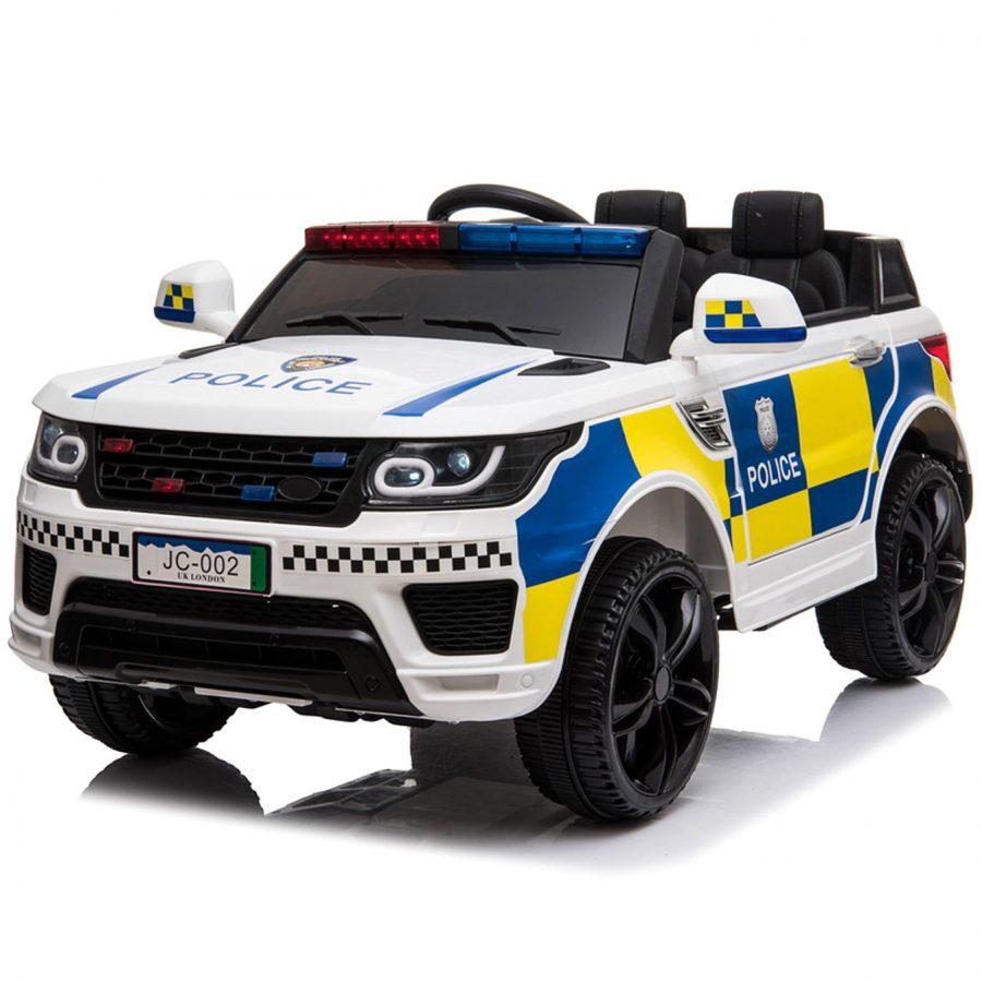 Акумулаторен джип Полиция Бял