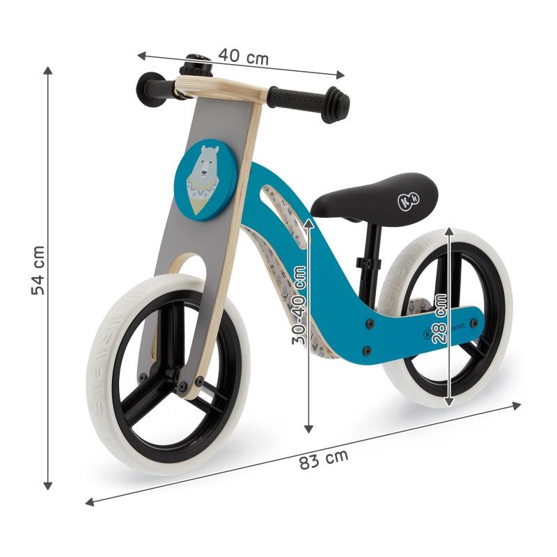 Колело за баланс KinderKraft UNIQ Turquoise