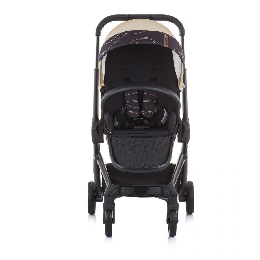 Бебешка количка Chipolino Emotion 3в1 златна