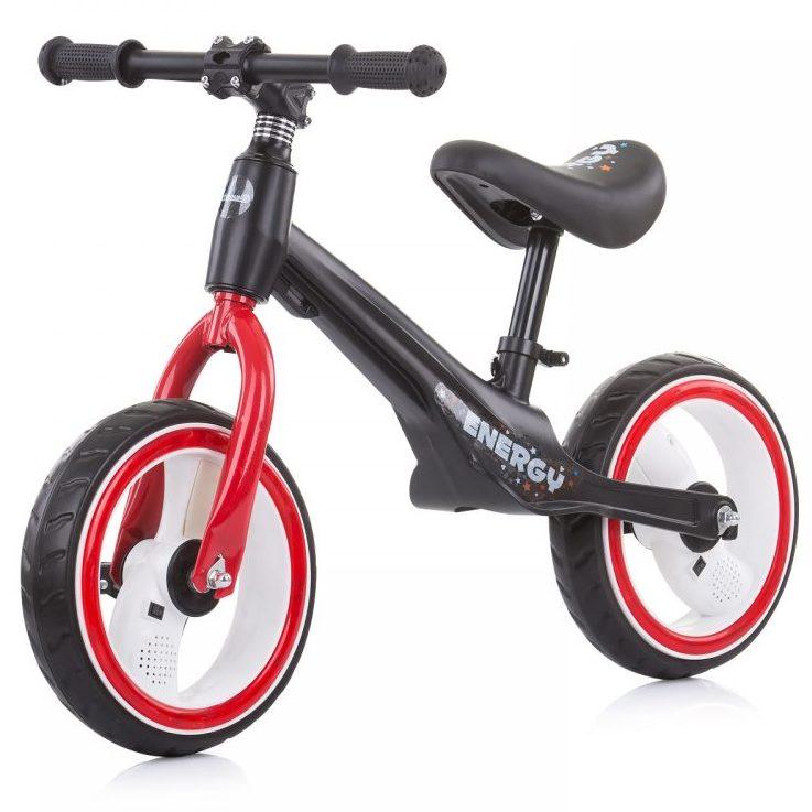 Музикално колело за баланс Energy Червено