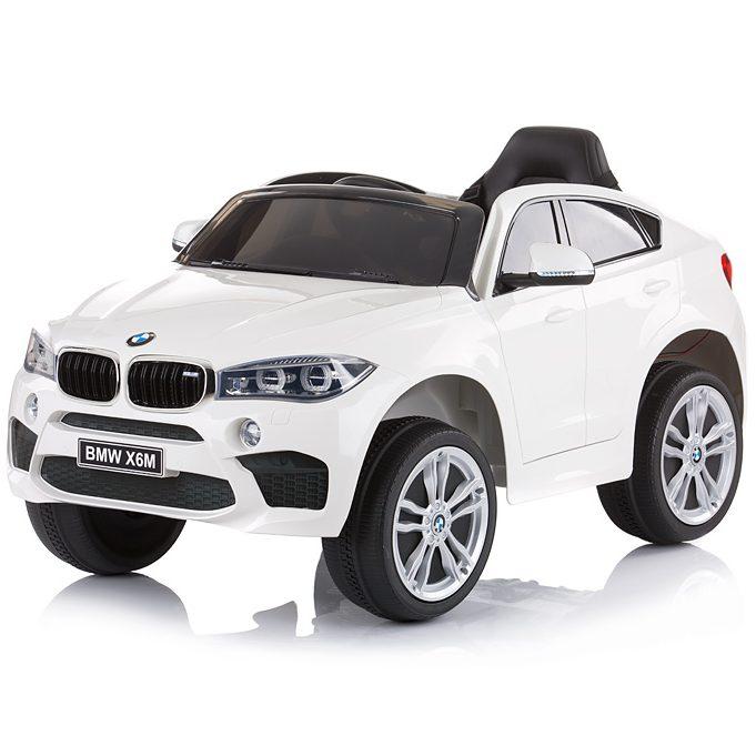 Chipolino Aкумулаторен джип BMW X6 Бял