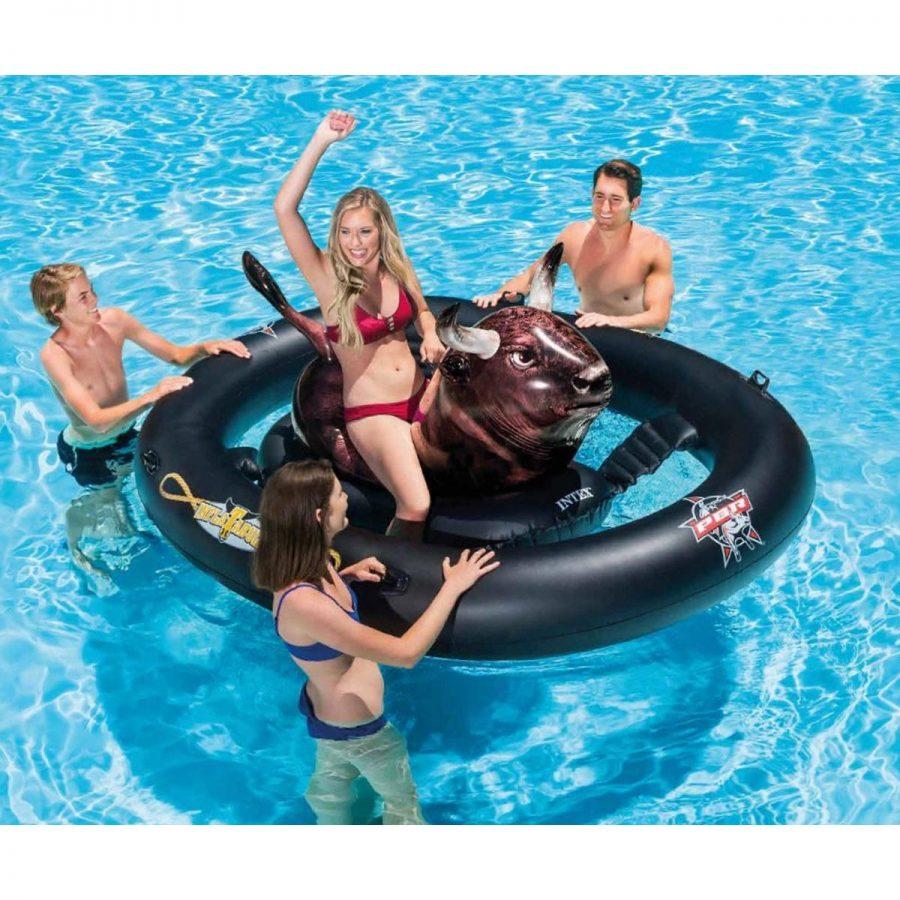 Забавен надуваем остров – Плаващ бик INTEX
