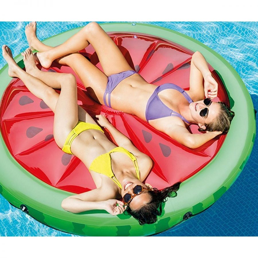 Надуваем остров Диня INTEX Watermelon