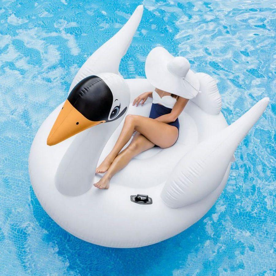 Надуваем остров Лебед INTEX Mega Flamingo