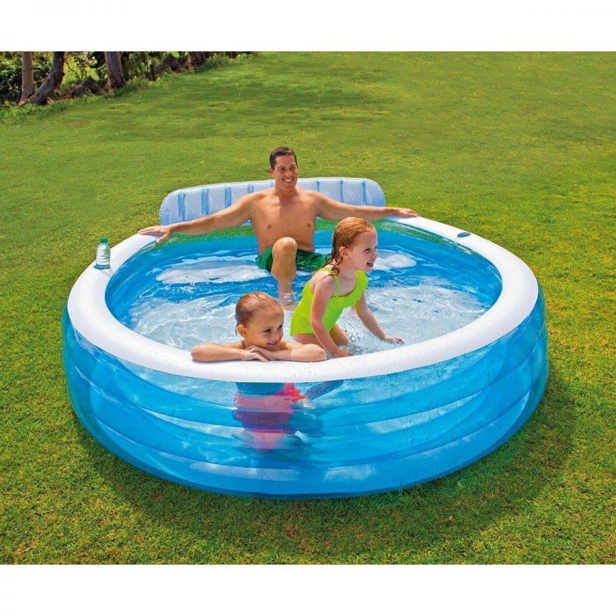 Семеен надуваем басейн със седалка INTEX
