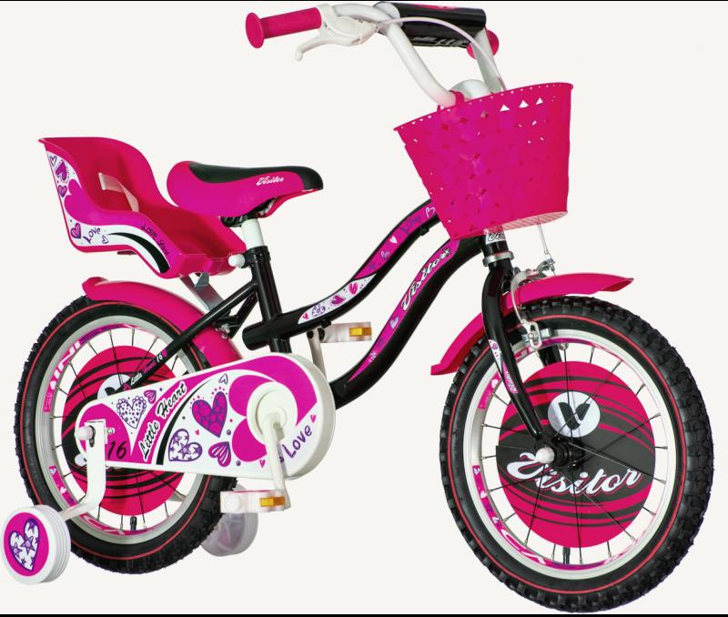Детски велосипед Little heart 16″, розов