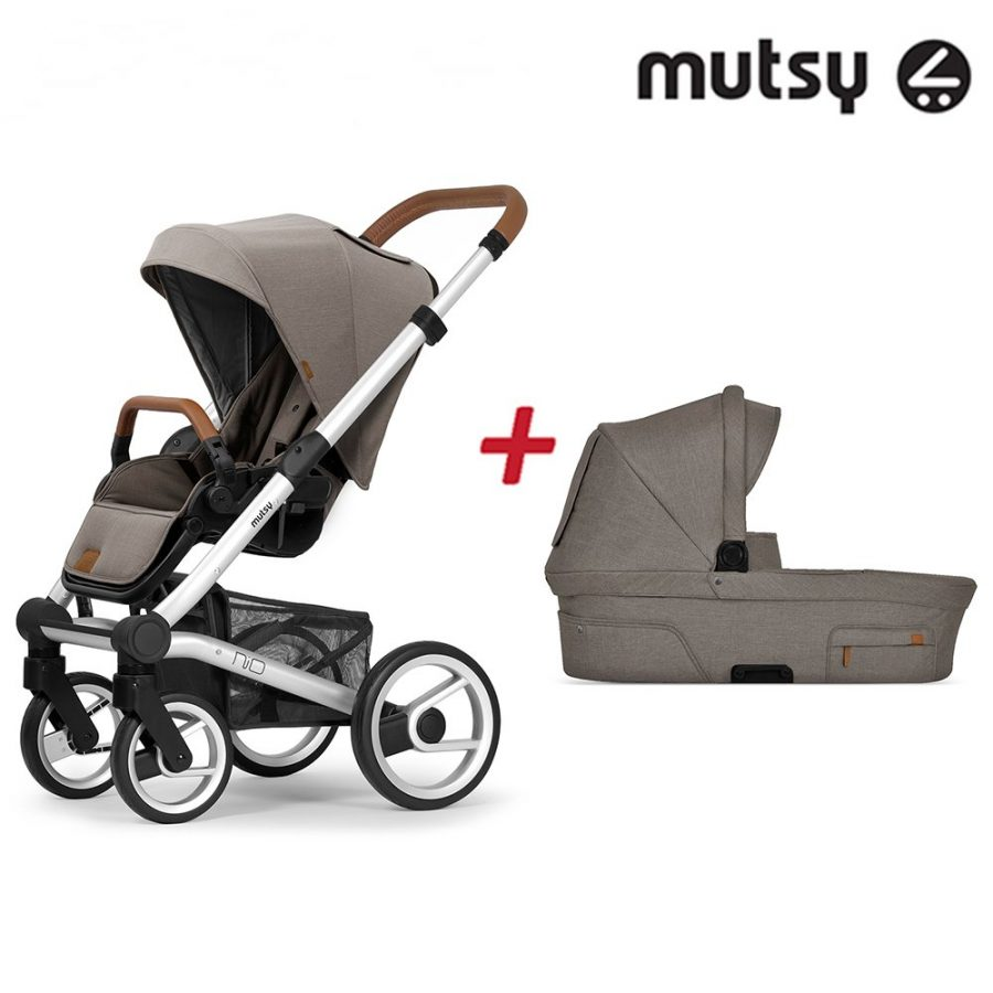 Пакет Шаси Mutsy Nio Standard + Кош за новородено и Седалка със сенник Mutsy Nio North Sand