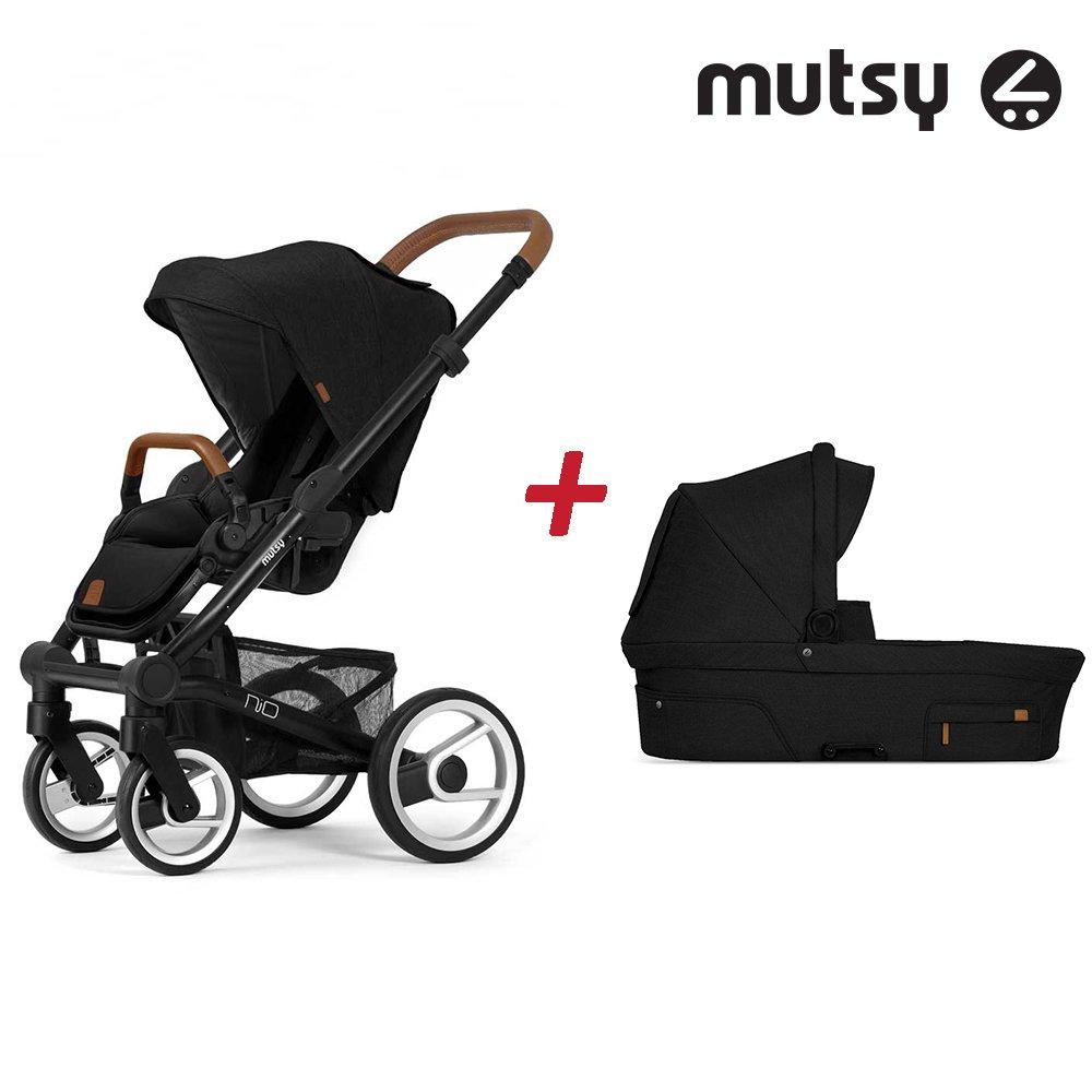 Пакет Шаси Mutsy Nio Black + Кош за новородено и Седалка със сенник Mutsy Nio North Black