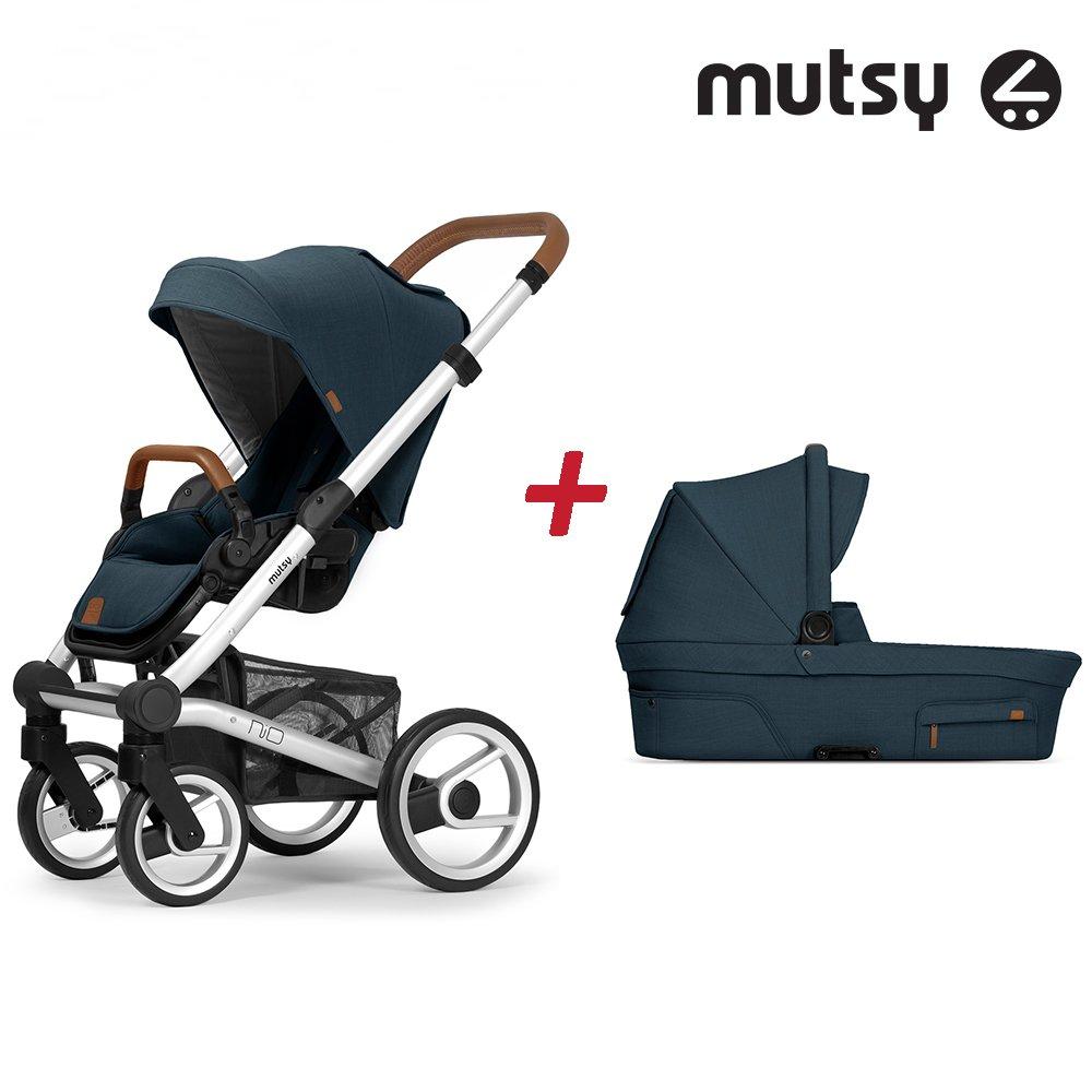 Пакет Шаси Mutsy Nio Standard + Кош за новородено и Седалка със сенник Mutsy Nio Adventure Ocean Blue