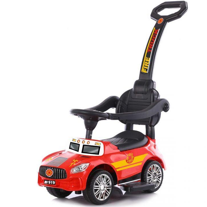 Chipolino Кола за яздене с дръжка Пожарна, Червена