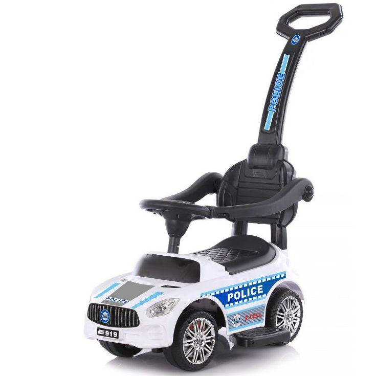 Chipolino Кола за яздене с дръжка Полиция, Бяла