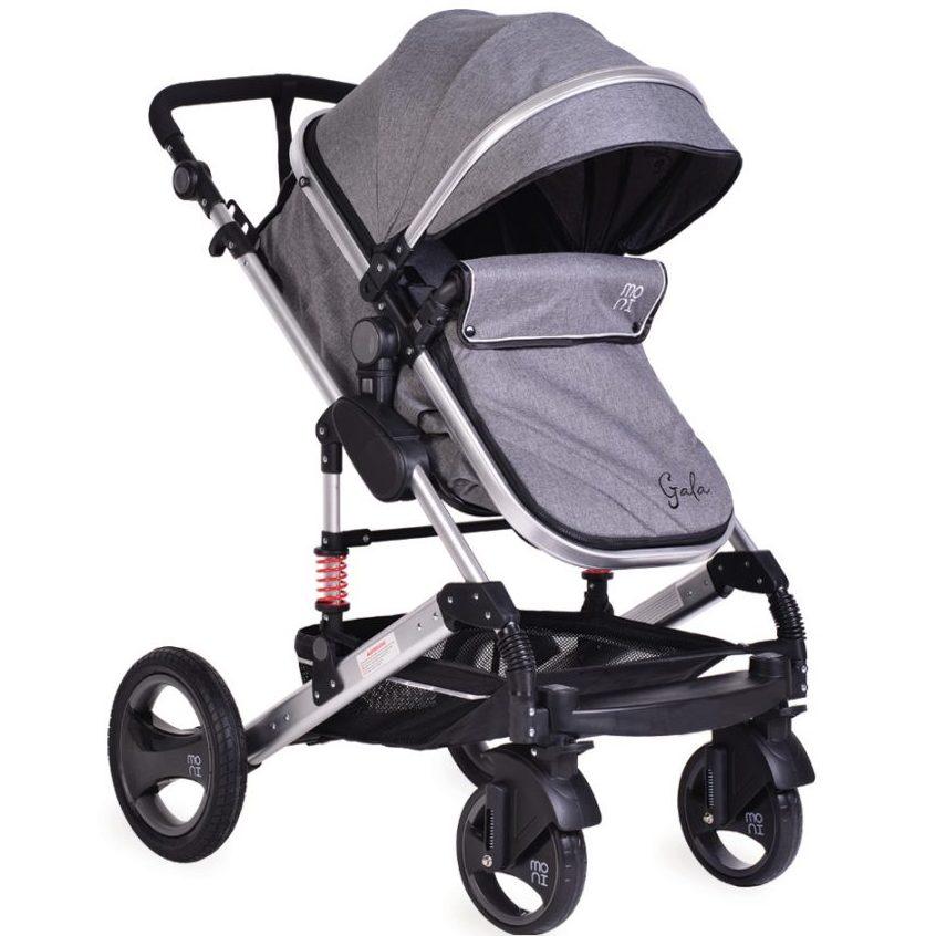 Комбинирана детска количка Gala Тъмносива