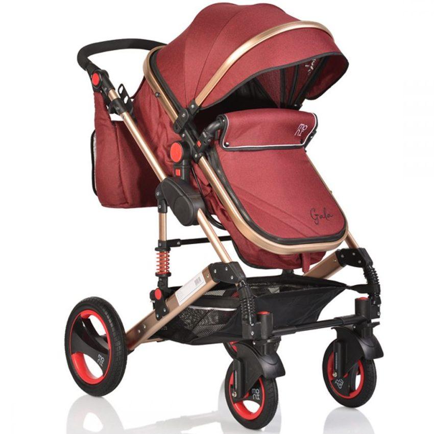 Комбинирана детска количка Gala Червена