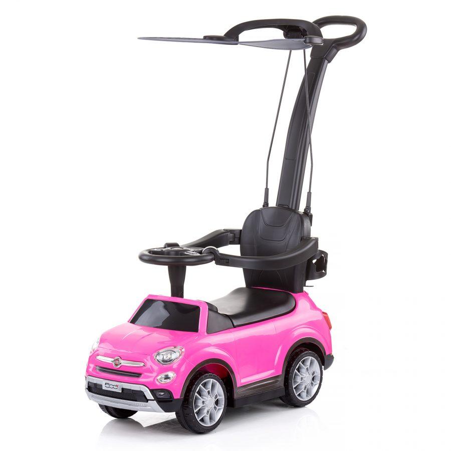 Chipolino Кола с дръжка и сенник Fiat 500х, Розова