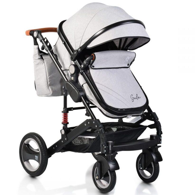 Комбинирана детска количка Gala Светлосива