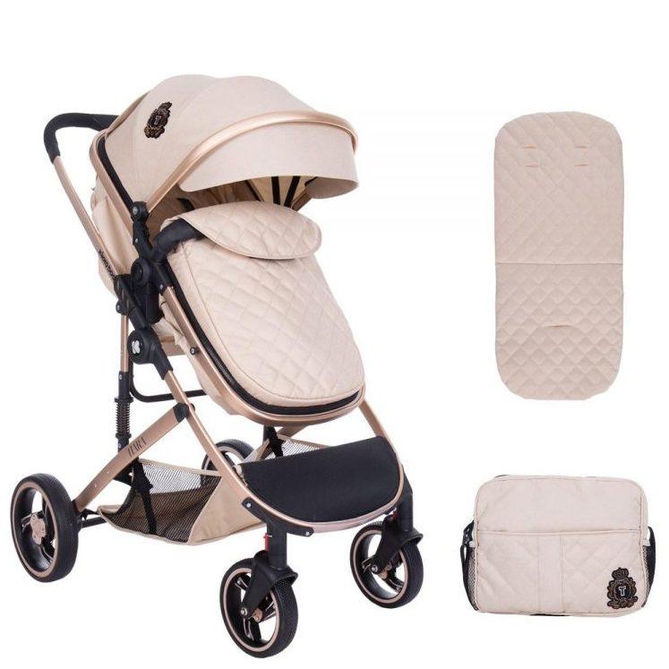 Кikka Boo Комбинирана бебешка количка 2в1 Tiara Beige