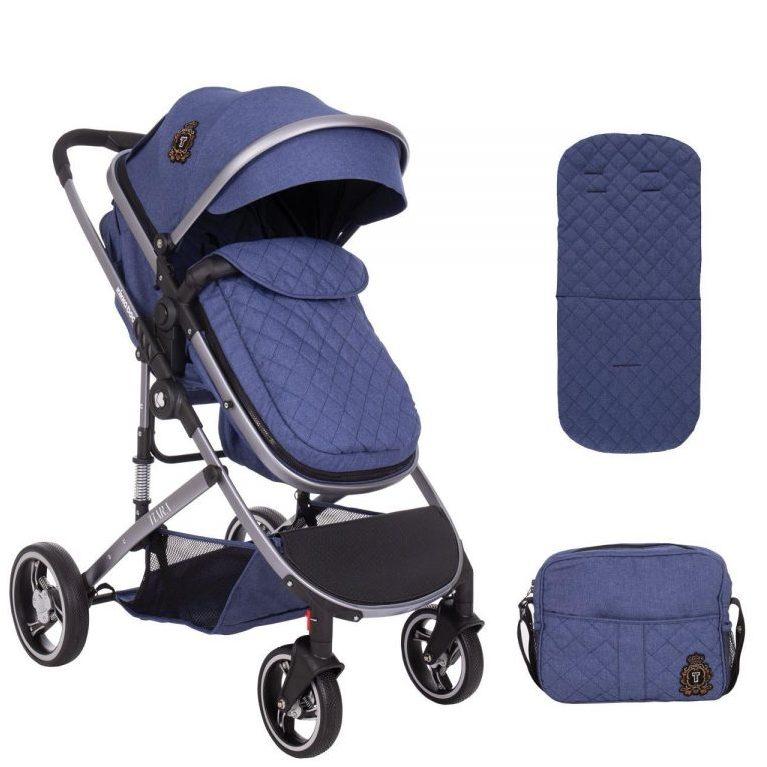Кikka Boo Комбинирана бебешка количка 2в1 Tiara Dark Blue
