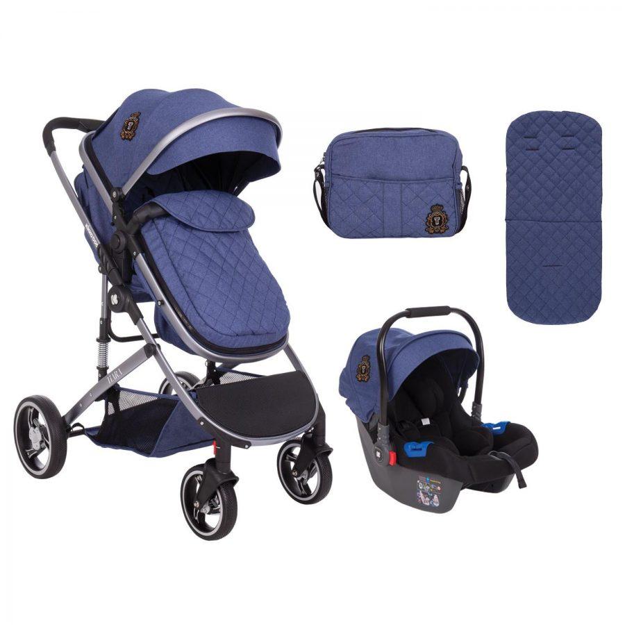 Кikka Boo Комбинирана бебешка количка 3 в 1 Tiara Dark Blue