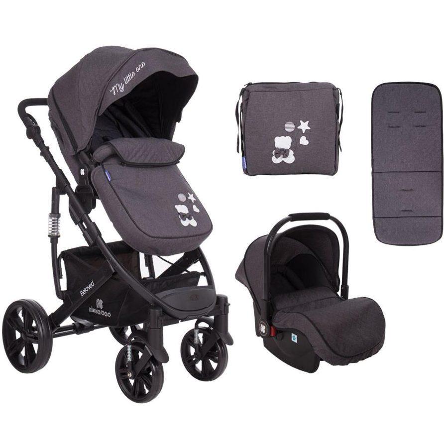 Кikka Boo Комбинирана бебешка количка 3 в 1 Beloved Dark Grey