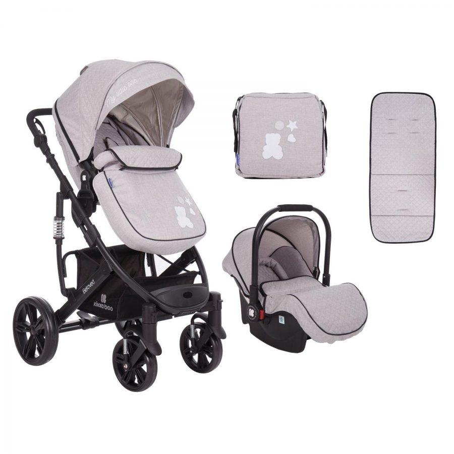 Кikka Boo Комбинирана бебешка количка 3 в 1 Beloved Light Grey