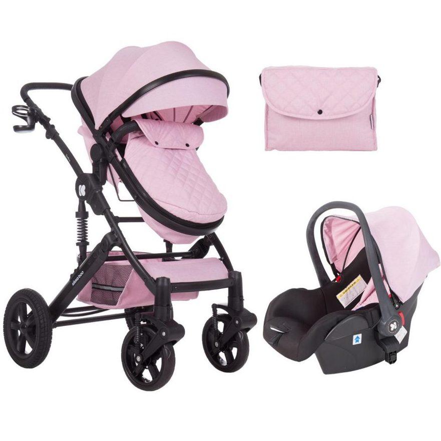 Кikka Boo Комбинирана бебешка количка 3в1 с трансф.седалка Darling Pink 2020