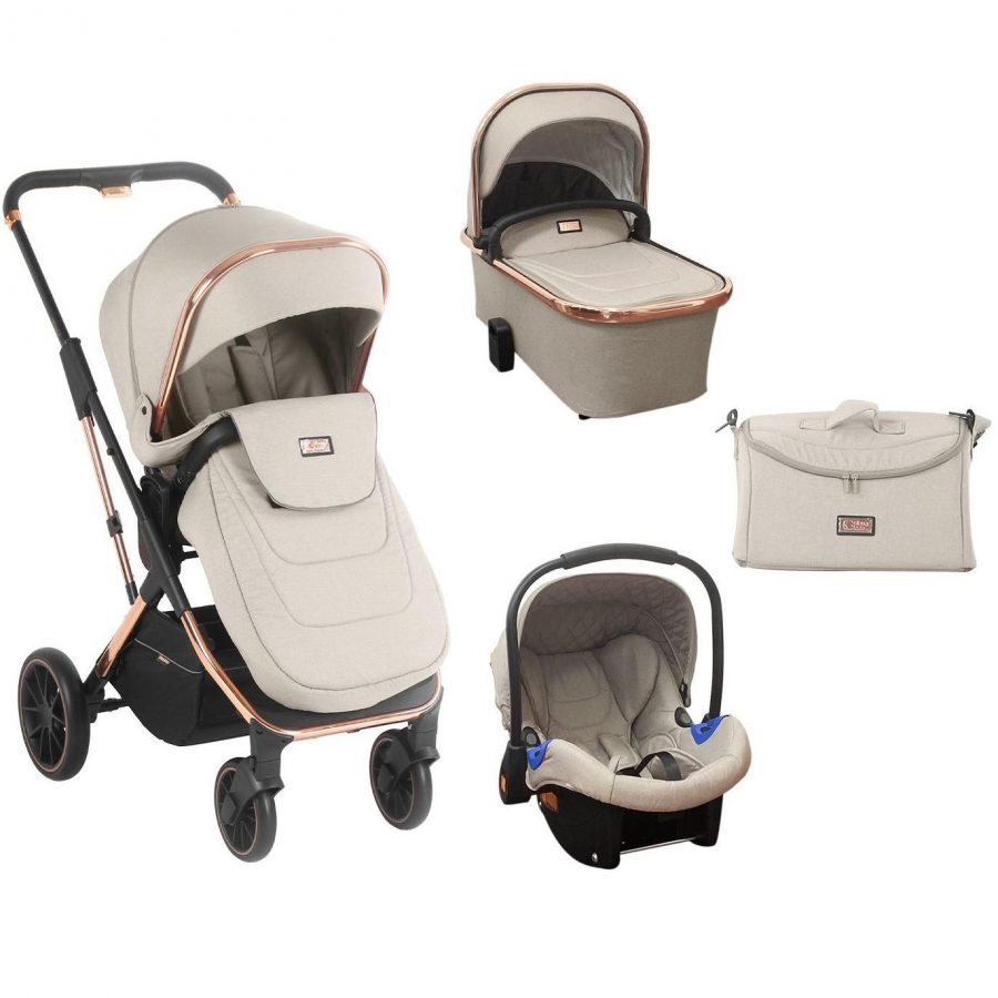 Кikka Boo Комбинирана бебешка количка 3 в 1 Angele Chrome Beige