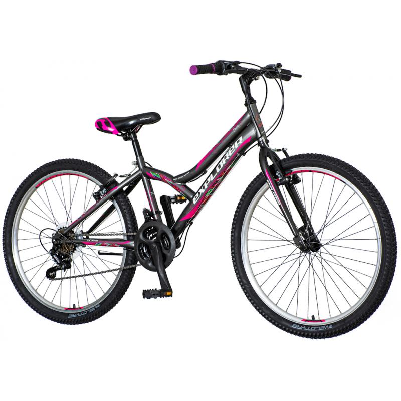 Детски велосипед EXPLORER DAISY 24″, сив