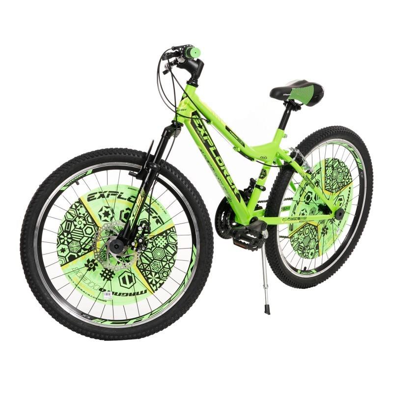 Детски велосипед EXPLORER MAGNITO 24″, зелено с черно