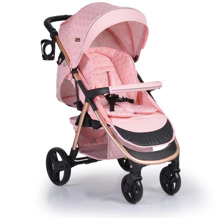 Cangaroo Комбинирана детска количка NOBLE 3в1 Розова