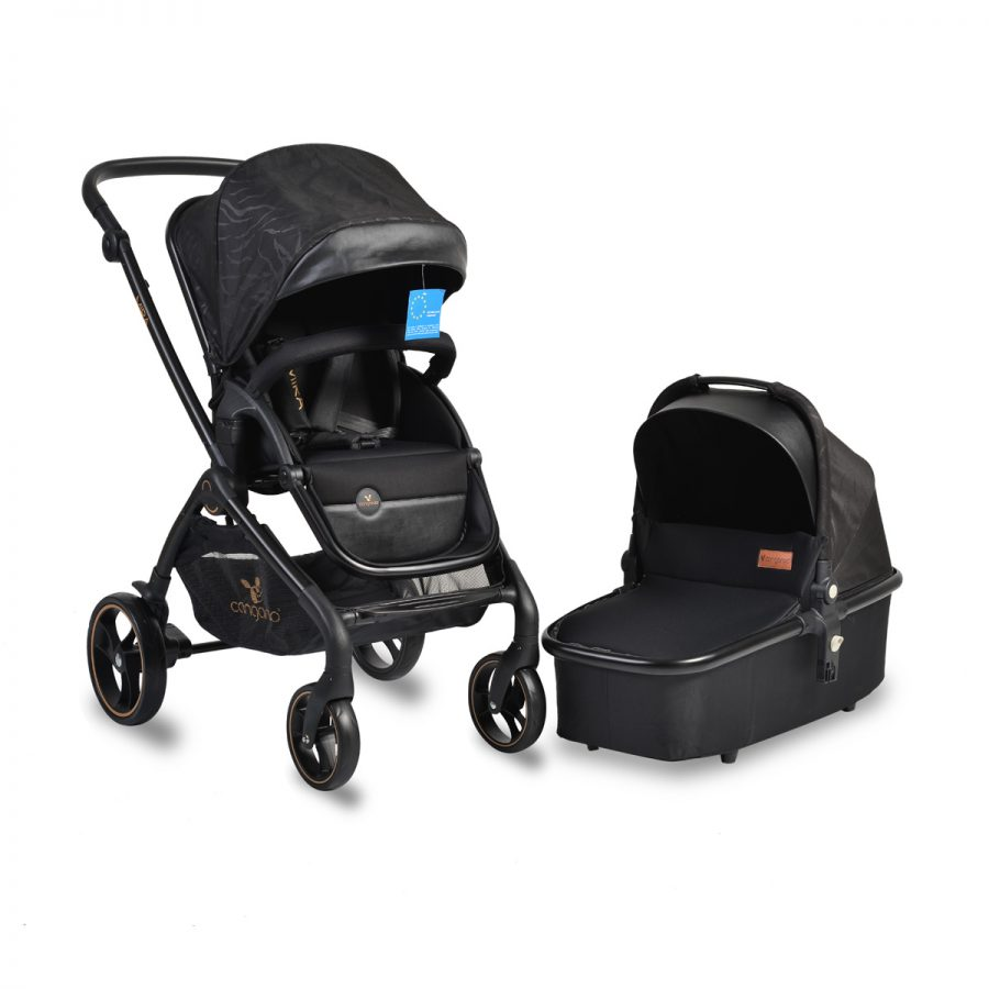Cangaroo Комбинирана детска количка MIRA 2в1 Черна