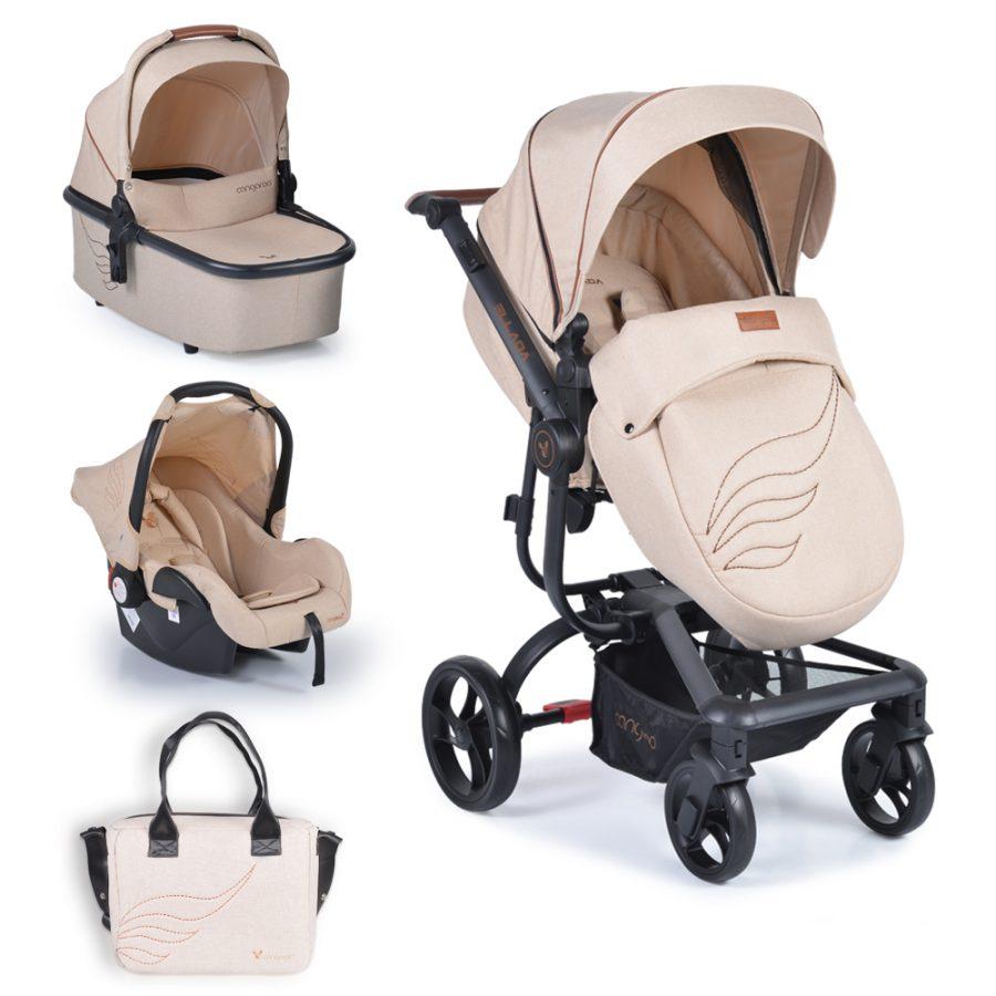 Cangaroo Комбинирана детска количка Ellada 3в1 Бежова