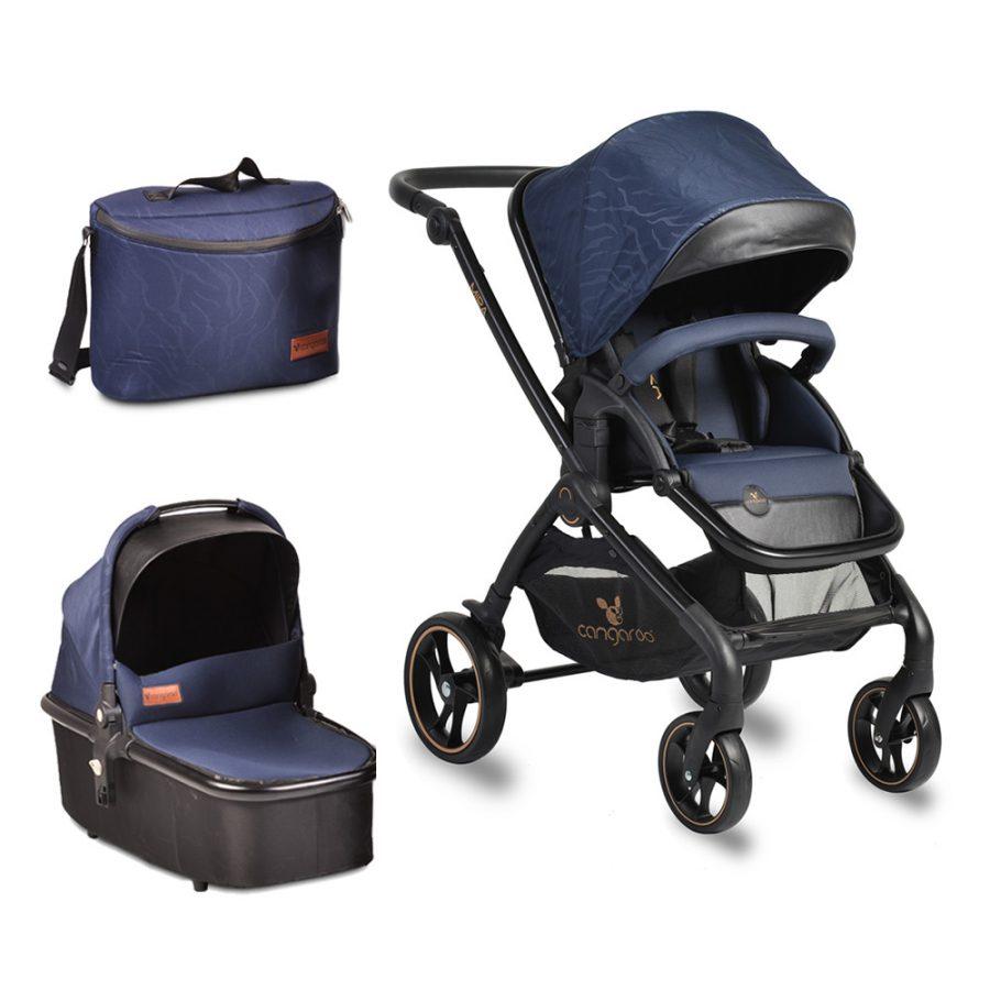 Cangaroo Комбинирана детска количка MIRA 2в1 Синя