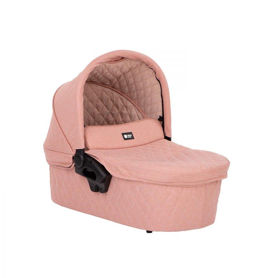Кikka Boo Комбинирана бебешка количка 3 в 1 Madrid Pink Melange 2020