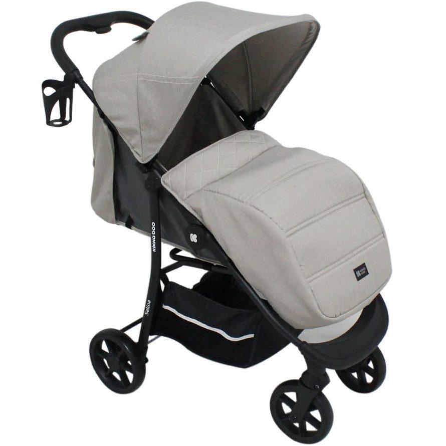 Кikka Boo Комбинирана бебешка количка 3 в 1 Selina Light Beige