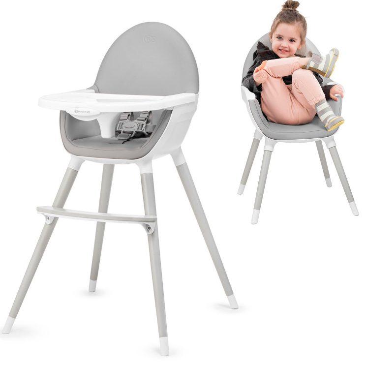 Столче за хранене 2 в 1 KinderKraft FINI, All grey
