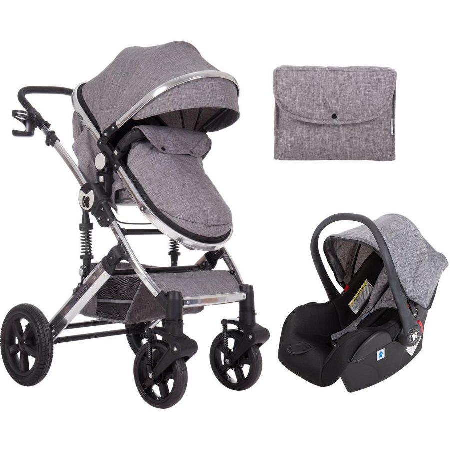 Кikka Boo Комбинирана бебешка количка 3 в 1 с трансф.седалка Darling Dark Grey 2020