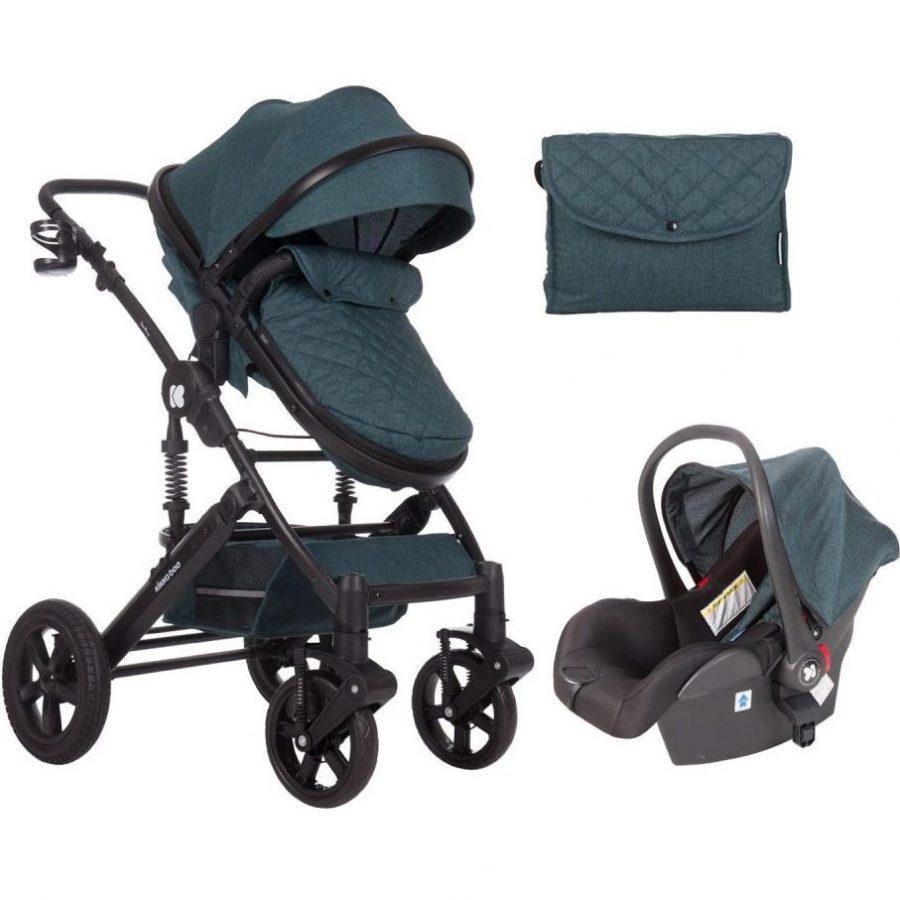 Кikka Boo Комбинирана бебешка количка 3 в 1 с трансф.седалка Darling Green 2020