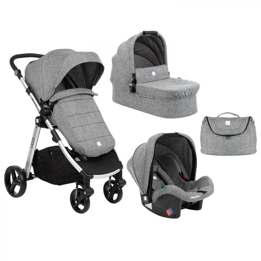 Кikka Boo Комбинирана бебешка количка 3 в 1 Ugo Dark Grey Melange 2020