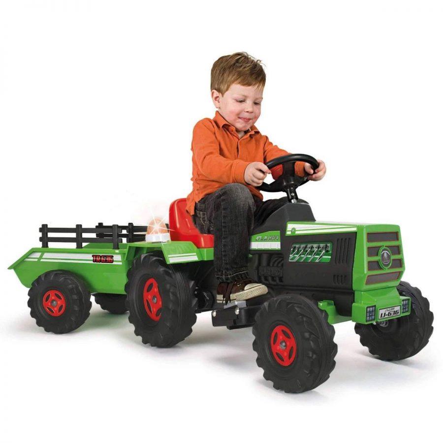 Injusa Детски акумулаторен трактор с ремарке, батерия 6V